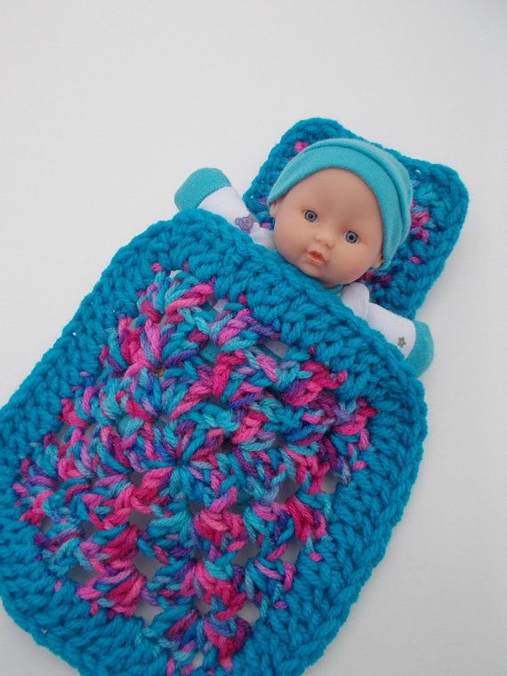 Crochet Pattern For Doll Blanket : Crochet Cradle Purse , Baby Doll , Blanket and Pillow ...
