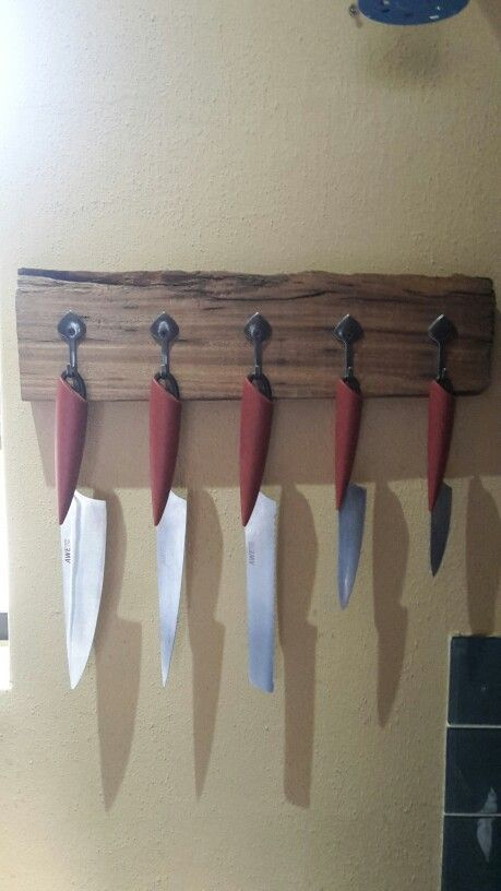 Wall hooks  -   We made our own - I do love sleeper wood