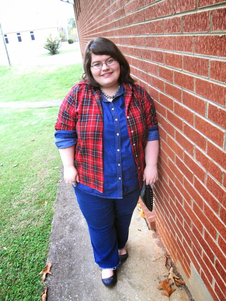 Plus Size OOTD: Denim On Denim #plussize #plussizefashion #fashion #ootd #outfit #denim #falloutfit #fall