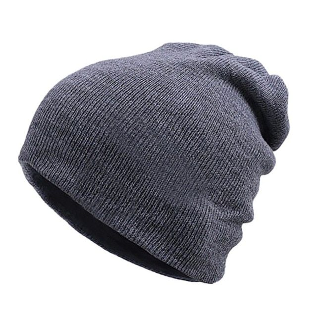 Beanie Hat Cap Autumn Fall and Winter Warm Knit One Size Unisex Gorras