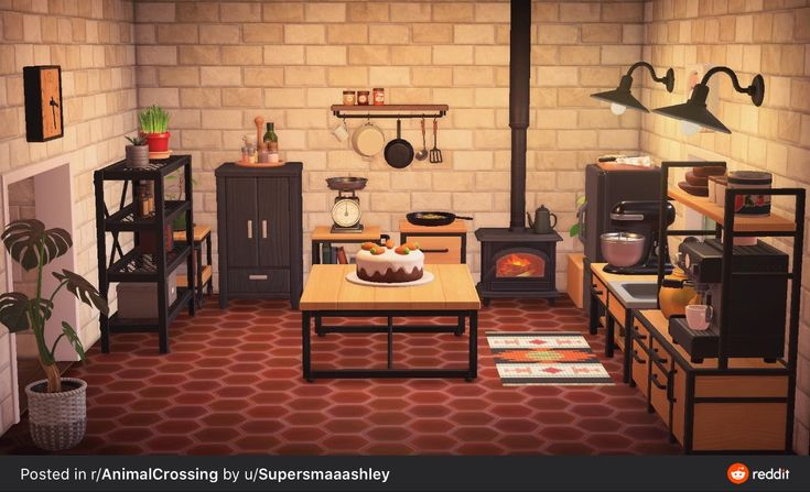 Kitchen in 2020 | Animal crossing, Animal crossing pc, New ... on Ironwood Kitchen Animal Crossing  id=28283