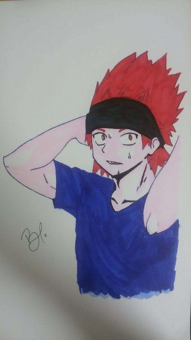 Kirishima Eijirou (coloured) by mei-chan286