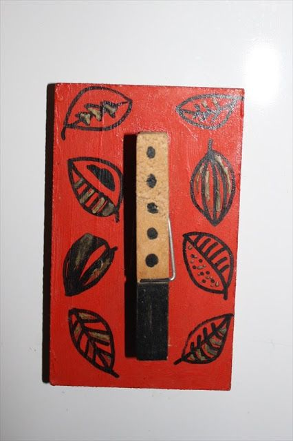 Fridge Magnet from wooden peg