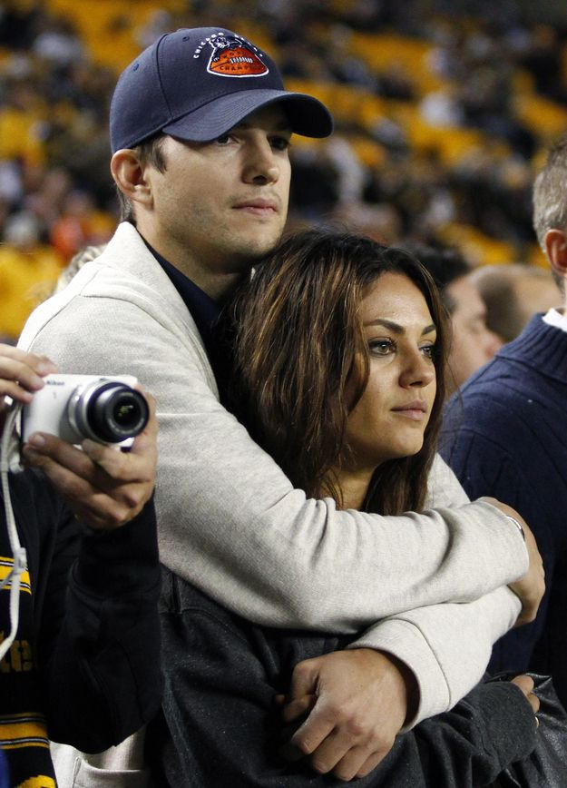 Ashton Kutcher and Mila Kunis. | 25 Celebrity Couples Who Restored Your Faith In Love In 2013