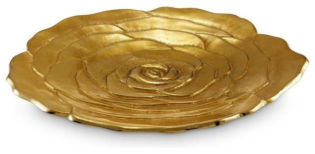 """Julia Knight Rose 15"""" Platter Gold transitional-serveware, $245"""