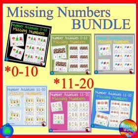 Grade / Year Level :: Primary Education :: Foundation :: Missing Number Patterns Numbers 0-10 and 11-20 Maths Centre Activity BUNDLE