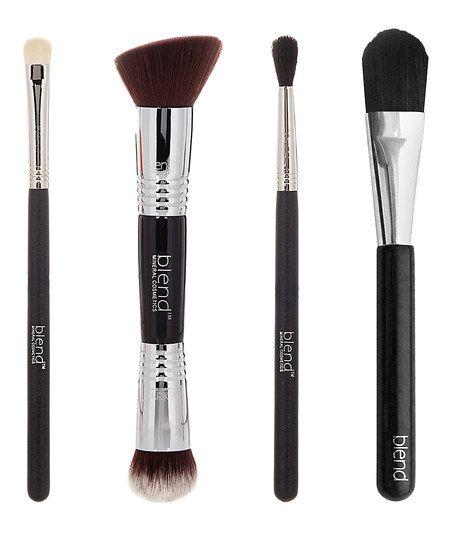 Blend Mineral Cosmetics Four-Piece Brush Set | zulily