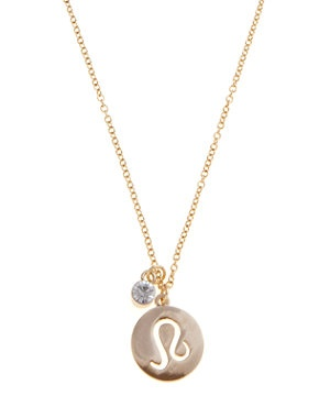 Gold Leo Charm Necklace -New Look