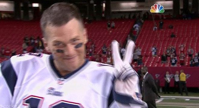 Where Is Tom Brady Today | Tom Brady flashes a peace sign after postgame interview | For The Win