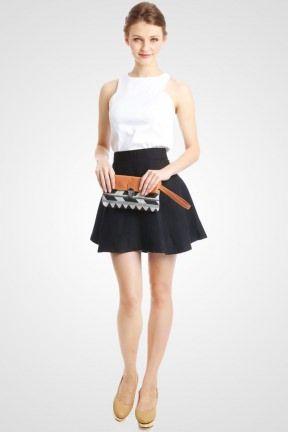FOLDED CLUTCH BROWN TRIBAL - http://www.slightshop.com/kategori-produk/tas/toko-online-fashion-wanita-jual-beli-clutch-kerja-pesta-formal-casual/