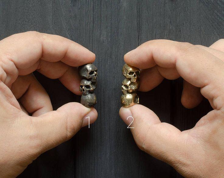 3 in 1 dark skull paracord beads Paracord skull beads of