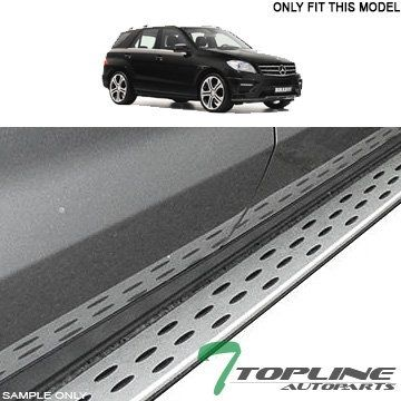 """""""Features & Benefits"""" Topline Autopart Factory OE Luxury Style Aluminum Silver Side Step Assist Rail Running Boards 12-15 Mercedes Benz MB W166 ML ML350 ML500"""