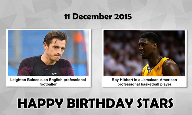 Happy Birthday Sports Stars #LeightonBaines : is an English professional Footballer who plays as a defender for Everton Football Club and the England National Football Team. Baines made his debut for the England under-21s in a 2006 UEFA European Under-21 Football Championship. #RoyHibbert : is a Jamaican-American professional Basketball player who currently plays for the LA Lakers of the NBA. He is a two-time NBA All-Star, and earned NBA All-Defensive second team honors 2014.