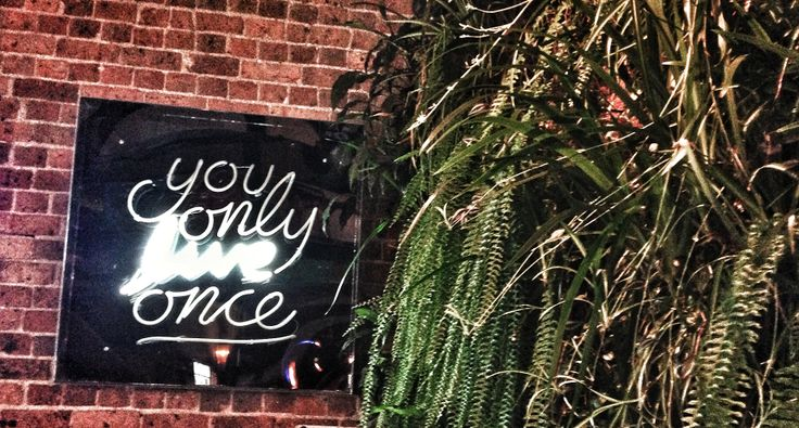 You only live once. Attended an awesome wedding today! This gorgeous light was on the wall at the reception. Love it!