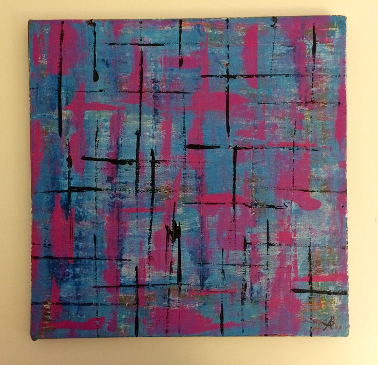 Grid2: Abstract acrylic painting by Bego Ayala