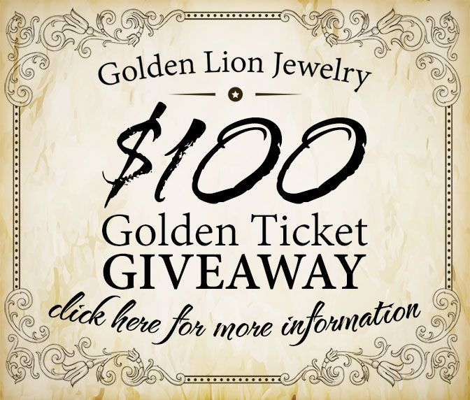 Enter this competition to win $100 off a single product from Golden Lion Jewelry!