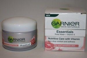 Krem Garnier Essentials na dzień woda rozana   wit E.