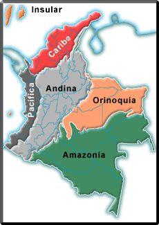 In den Anden aufgewachsen - in den Bergen geboren. Wurzeln im Amazonas! MAPAS DE COLOMBIA ESPECIFICOS