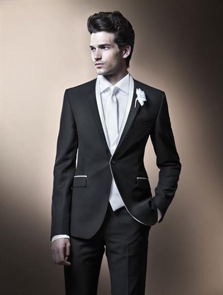 Стильный гламурный свадебный костюм для жениха