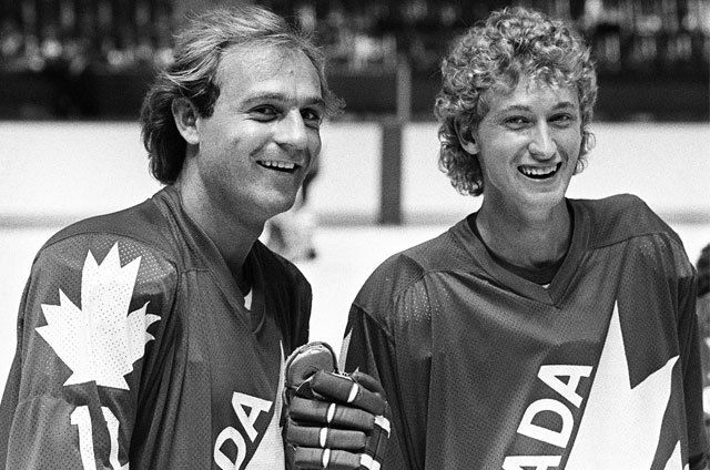 Guy Lafleur and Wayne Gretzky | Canada Cup | Hockey