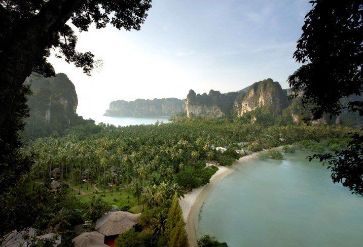 Flanked on three sides by white-sand beaches and the bright azure ocean, Rayavadee boutique hotel in Krabi might just be the most stunningly located luxury resort in Thailand.