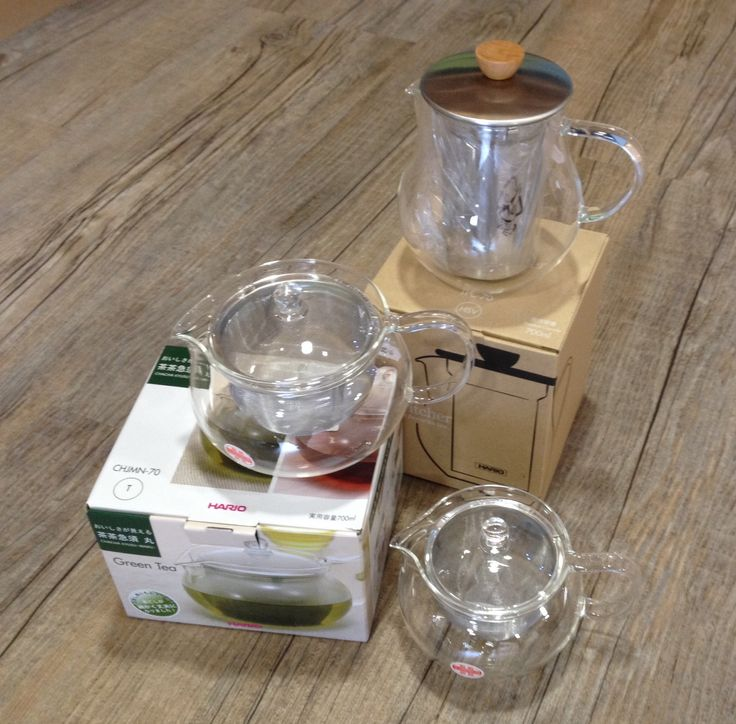 Lovely range of 700ml and 360ml glass #Hario #teapots -