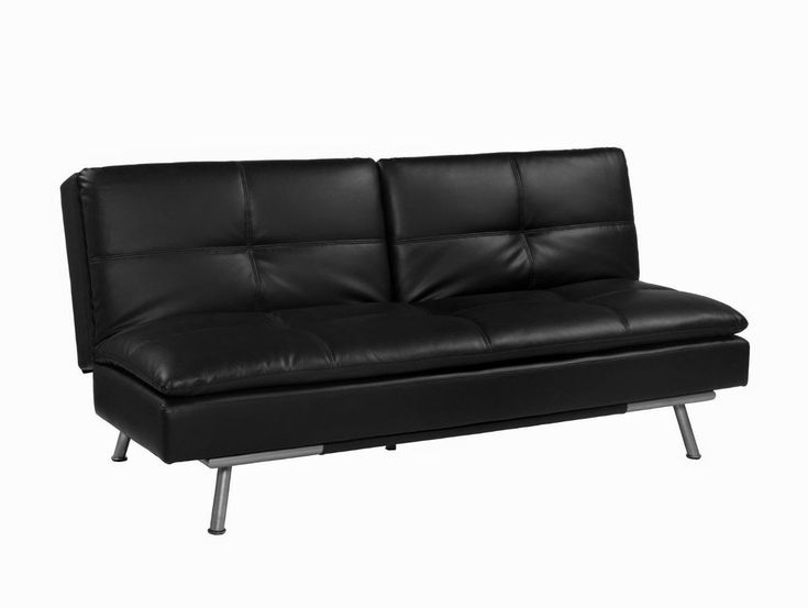 black leather sofa beds a charm and classic feel with modern touch