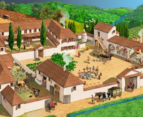 villa romana  ROMA ANTIGUA , LA VIDA  Pinterest  Villas