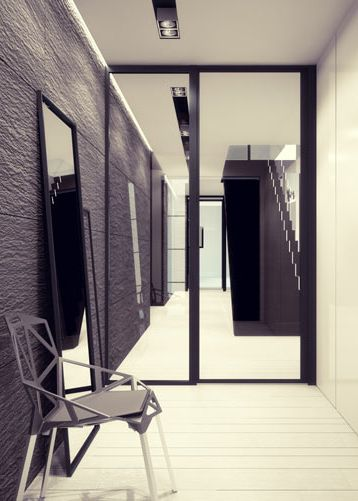 Entrance hall design in home POLAND - archi group. Holl wejściowy w domu jednorodzinnym w Rudzie Ślaskiej.