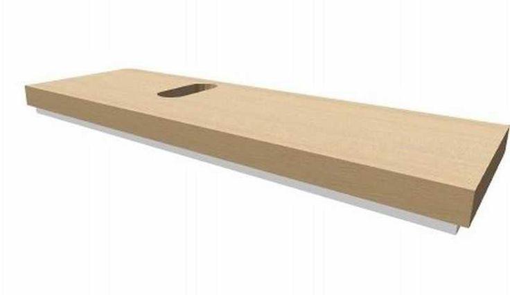 Keramag Silk wastafelblad 140 cm, uitsparing links, licht eiken - 816240000 | badkamerwinkel.nl