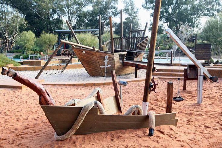 Woodbridge Riverside Playspace's famed pirate ship.