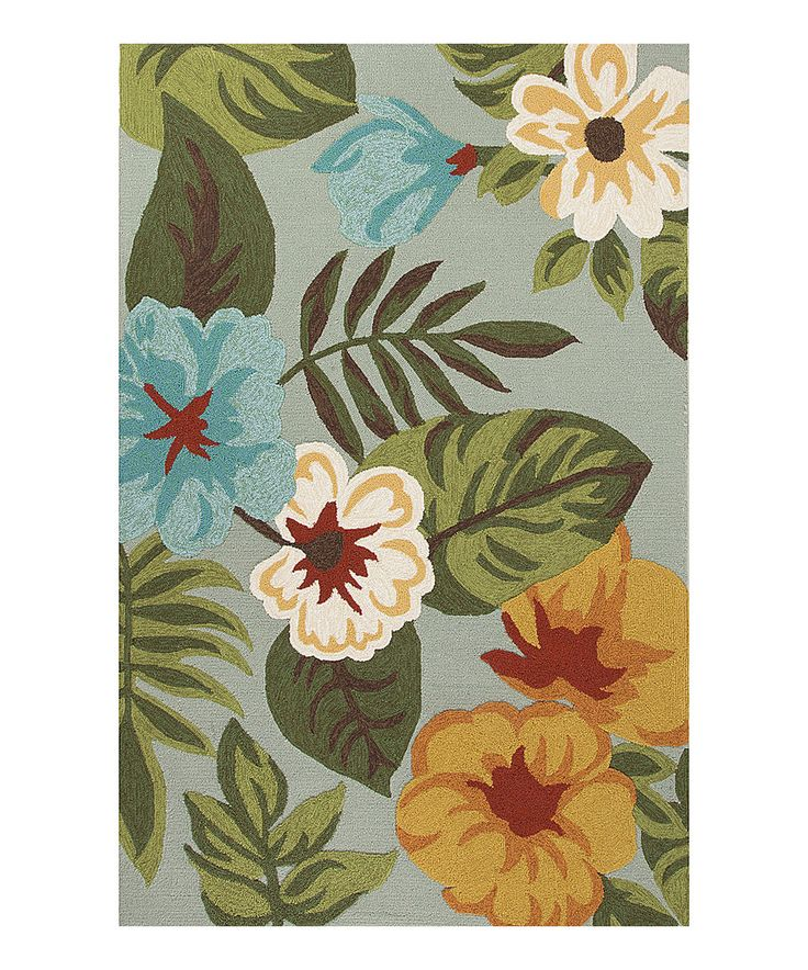 This Green & Gray Indoor/Outdoor Coastal Rug by Jaipur Rugs is perfect! #zulilyfinds