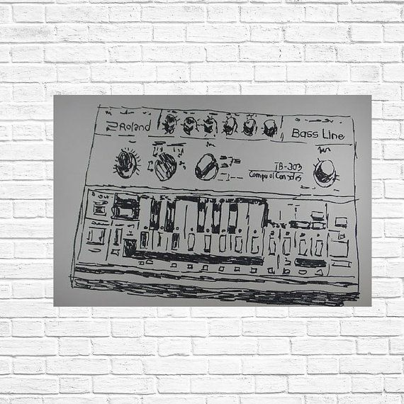 illustration Roland TB-303, A piece of art for real lovers and true nostalgics!