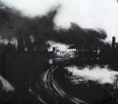 John Virtue  Virtue uses only black and white on his work as he sees colour as unnecessary distraction He uses shellac black ink and white paint.