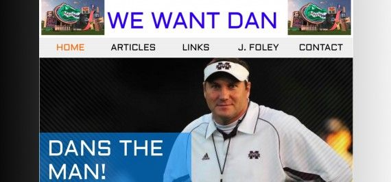 Florida Fan Campaigns For Dan Mullen With Website