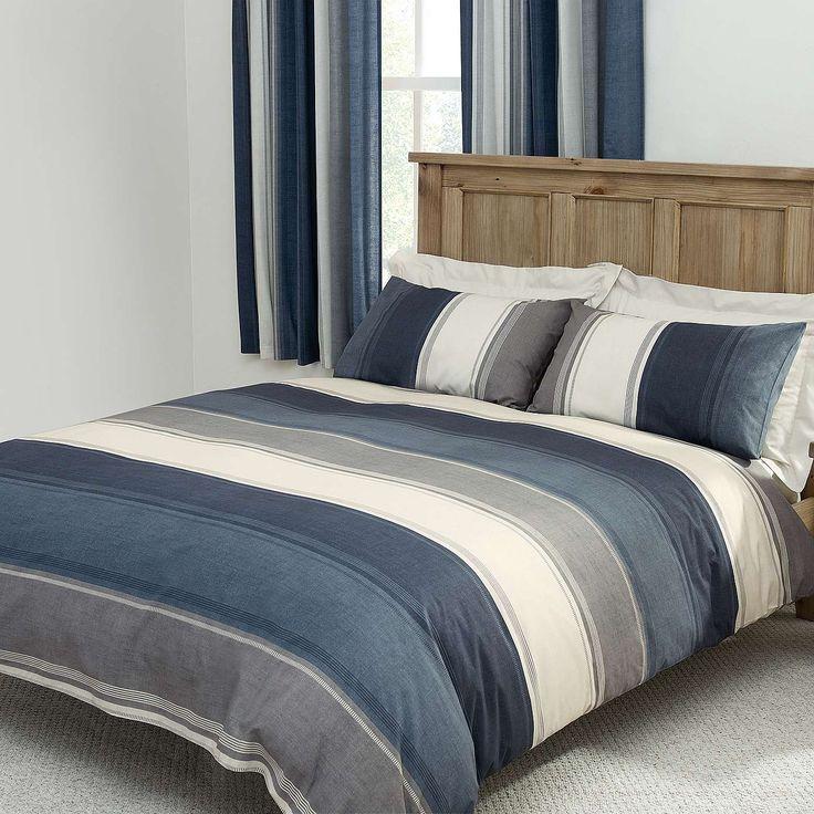 Blue Finley Bed Linen Collection | Dunelm