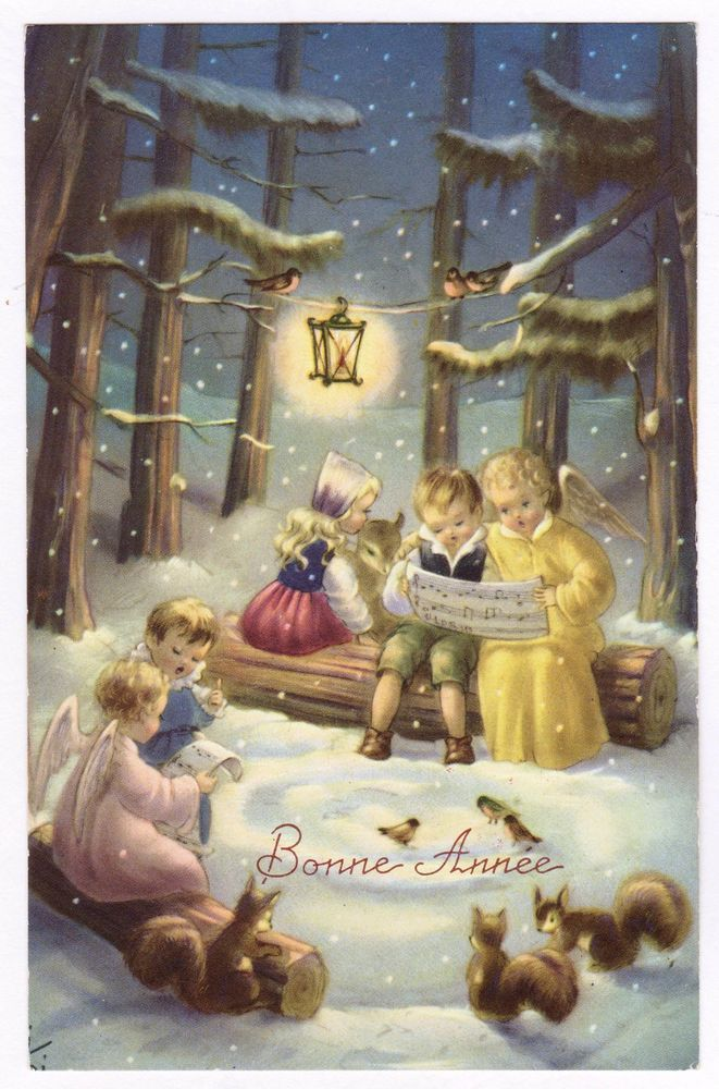 ANGIOLETTI ANGES - Buon Anno.Bonne Année.Neve. Angeli.Bambini.Enfants.Kinder.