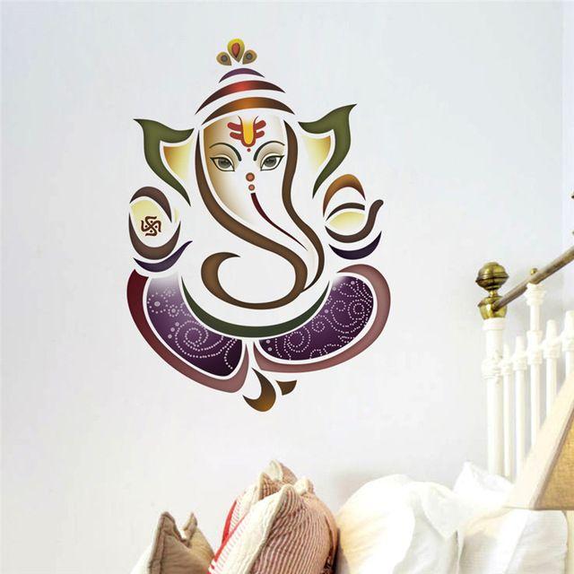 Wall Decals Ganesh Elephant Yoga Studio Decal Home Decor Vinyl Sticker Bedroom Living Room Decoratio Wall Stickers Wall Decal Sticker Wall Stickers Living Room #wall #decoration #stickers #for #living #room