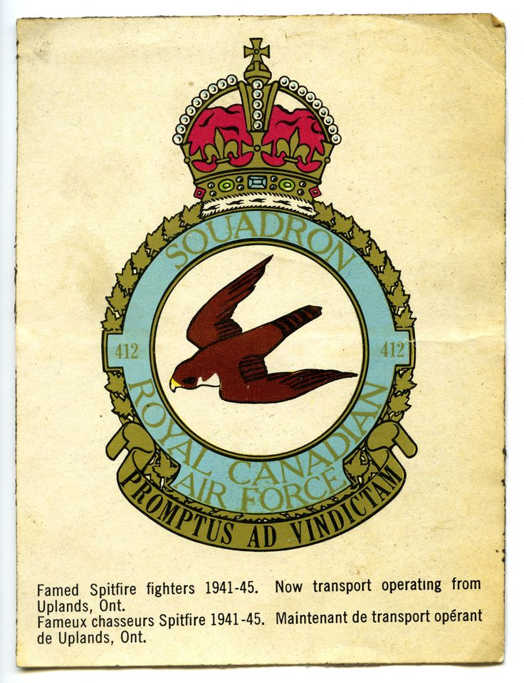 RCAF 412 Squadron 194145 Sticker (With images) Air