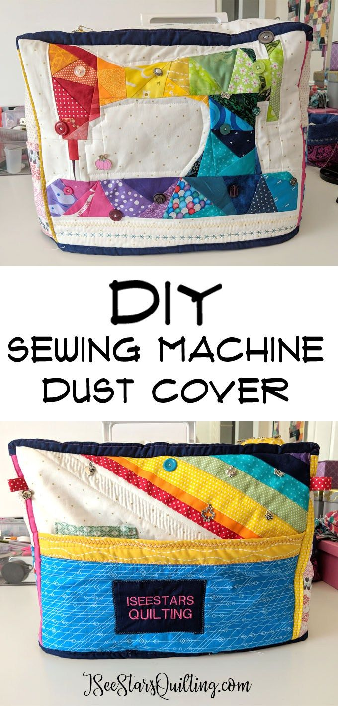 How cute is this DIY Sewing Machine Cover?!? I want to make one! She even lists …