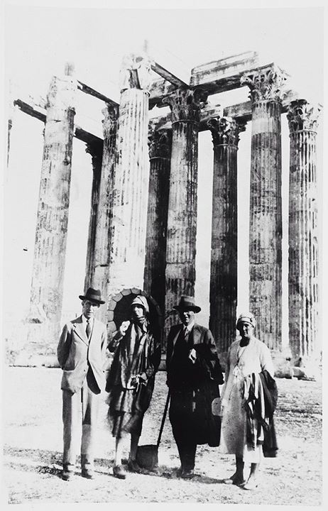 May 1932 ~ Leonard Woolf, Virginia Woolf, Roger Fry and Margery Fry in Athens
