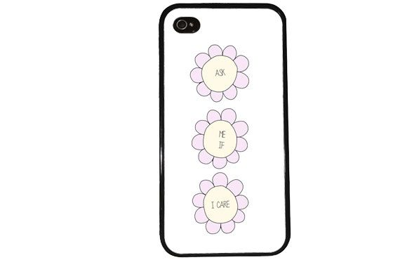 Funny Hipster Case / Daisy iPhone 4 Case Quote by