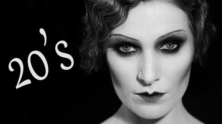 MODERN 1920s | Maquillaje años 20 - 20's Makeup & Hair tutorial