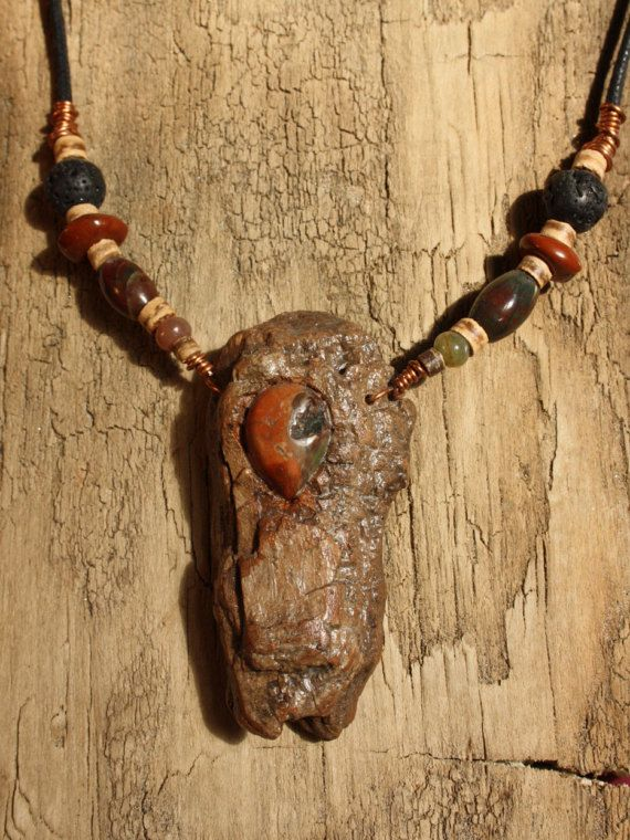 Handmade with copper wiring Blossom Agate stone carved by TribeAll