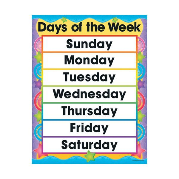 Days of the Week Photo