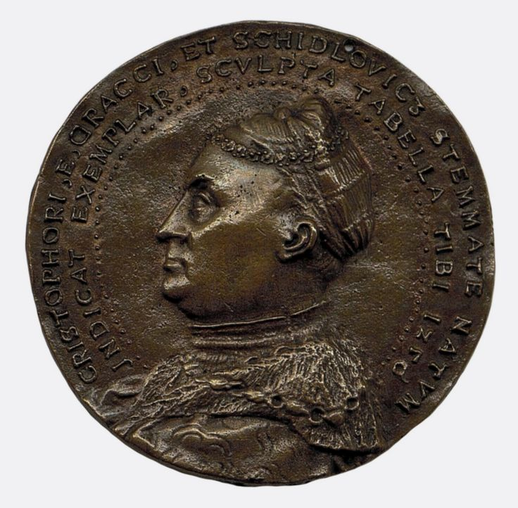 Copper medal with bust of Krzysztof Szydłowiecki, Great Chancellor of the Crown by Hans Schwarz, 1526, The State Hermitage Museum