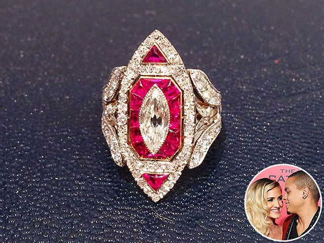Ashlee Simpson Diamond Ring