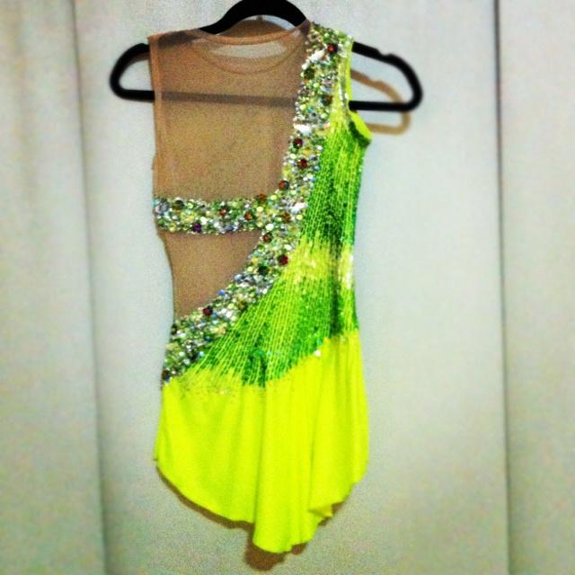 My last set of competitive dresses: Short Program - BACK