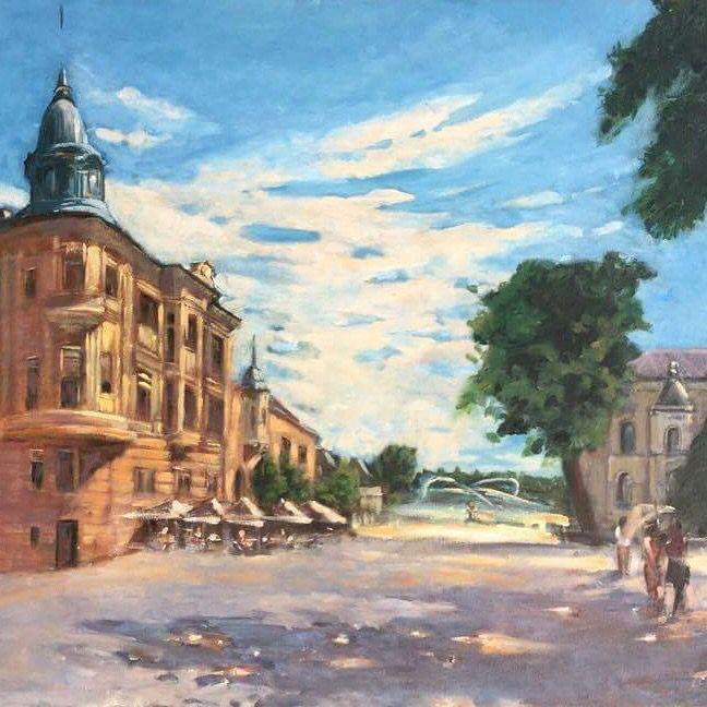 Barta Palota - Szolnok Barta Sarayı - Solnok Barta Palace -Szolnok Oil on canvas 50x70 cm