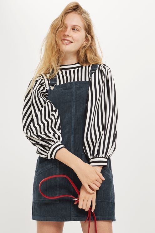 PETITE Corduroy Pocket Pinafore Dress
